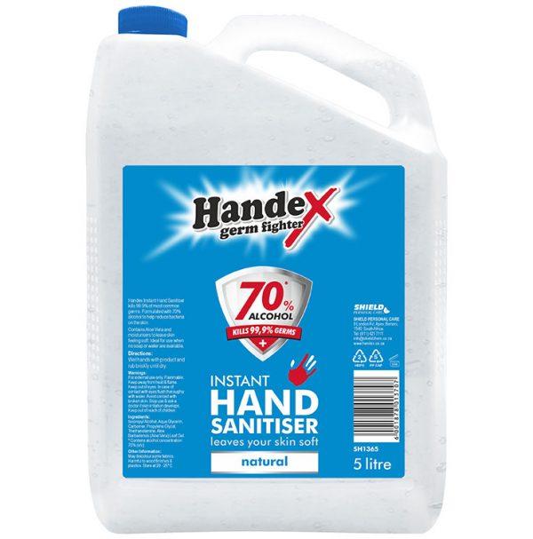 Handex 70% Alcohol Instant Hand Sanitiser – 5litre